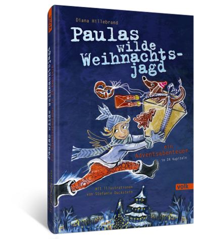 "3D Cover des Buches ""Paulas wilde Weihnachtsjagd"""